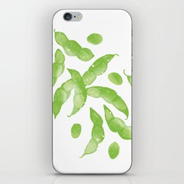 Edamame beans illustration iPhone Skin