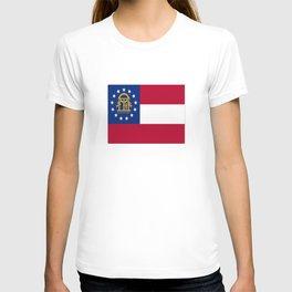 flag of the state of Georgia-Georgian,Gone with the wind,Atlanta,Colombus,Macon,Scarlett o'Hara,Usa T-shirt
