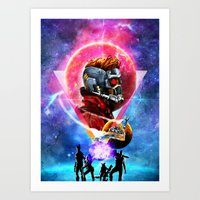 guardians of the galaxy Art Prints featuring Guardians of the Galaxy by Alfredo Roagui