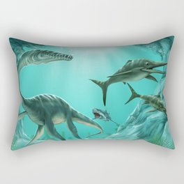 Underwater Dinosaur Rectangular Pillow
