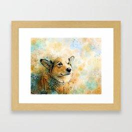 Dog 143 Corgi Framed Art Print