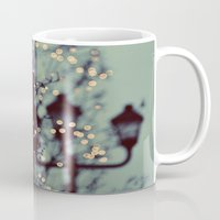 winter Mugs featuring Winter Lights by elle moss