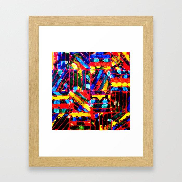 ALIEN CODES Framed Art Print