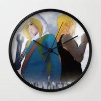 fullmetal alchemist Wall Clocks featuring Fullmetal by Witchy