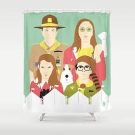 Time For Love And Adventure (Faces & Movies) Shower Curtain