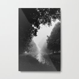 Flowing morning fog Metal Print