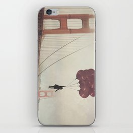 Floating over the Golden Gate iPhone Skin