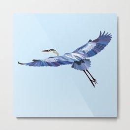 Great Blue Heron - illustration Metal Print