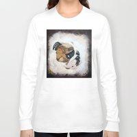 english bulldog Long Sleeve T-shirts featuring English Bulldog by Kristiekoz