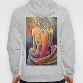 Abstract Art Original Nude Woman Girl Painting ... The Company You Keep Hoody