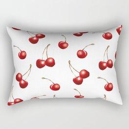 Watercolor Cherries Rectangular Pillow