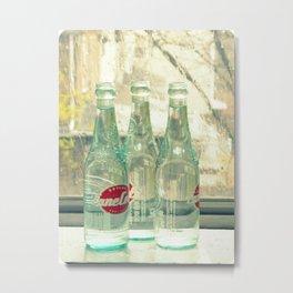 rainy day ~ vintage soda bottles Metal Print