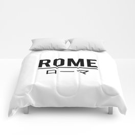 Rome In Japanese Comforters