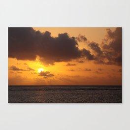 Sunset over South Ari Atoll, Maldives Canvas Print