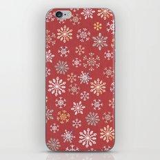 christmas snow iPhone & iPod Skin