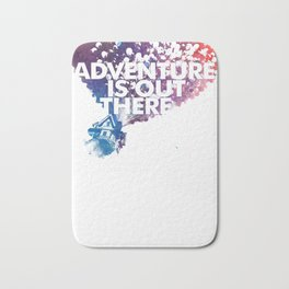 Adventure is Out there Art print Bath Mat