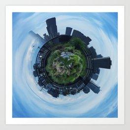 Emerald City Abstract Art Print