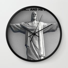 Redemption Text Black And White Wall Clock