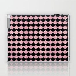 Mermaid Scales Pink Rose Gold Metallic Laptop & iPad Skin