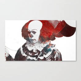 Galaxy Tim Curry Pennywise the Dancing Clown Canvas Print