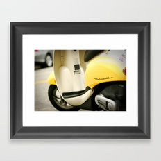 Bright Yellow Metropolitan Moped Framed Art Print