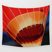 hot air balloon Wall Tapestries featuring Hot Air Balloon by DistinctyDesign