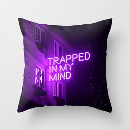 Trapped In My Mind Throw Pillow