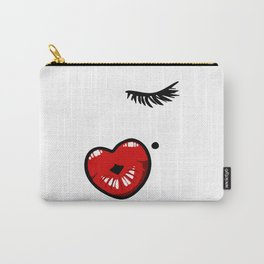 Pucker Kissy Glamour Lips Carry-All Pouch