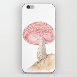 Mushroom - Wrinkled Peach Mushroom Watercolour Print - RHODOTUS PALMATUS By Magda Opoka iPhone Skin
