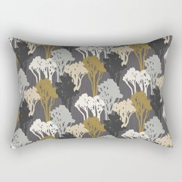 Arboreal Silhouettes - Golds & Silvers Rectangular Pillow