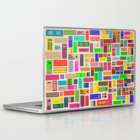 doors Laptop & iPad Skins featuring Doors - White by Finlay McNevin