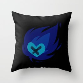 Burning wounded heart Throw Pillow