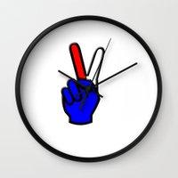 patriotic Wall Clocks featuring Patriotic by gbcimages
