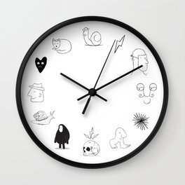 12 months of drawings Wall Clock