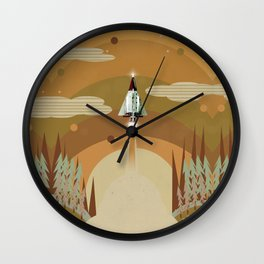 the adventure continues Wall Clock