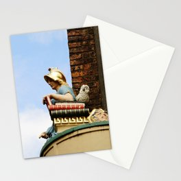 Minster gates and Minerva, the goddess of wisdom, in York, England Stationery Cards