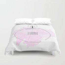Round purple perfume Duvet Cover