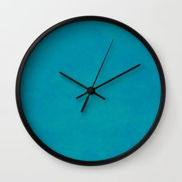 color trend clear blue aquamarine plain Wall Clock