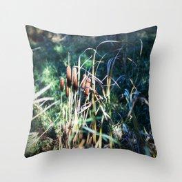 Cattails 5 Throw Pillow