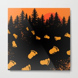 Bigfoot Tracks At Sunset Metal Print