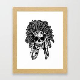 Chief Skull Framed Art Print