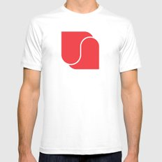 Heart to heart White Mens Fitted Tee MEDIUM