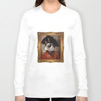 grumpy Long Sleeve T-shirts featuring Angry cat. Grumpy General Cat.  by UiNi
