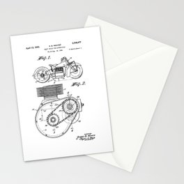 Motorcycle Patent Art Stationery Cards