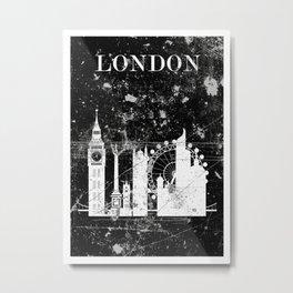 London - negative Metal Print