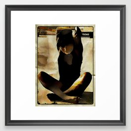 gymnast stretching abstract Framed Art Print