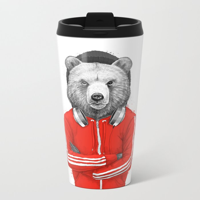 bear coach Metal Travel Mug