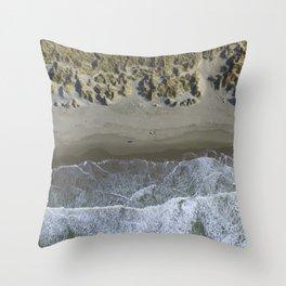 ocean / / land Throw Pillow