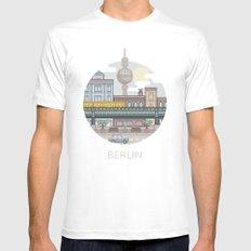 Berlin White Mens Fitted Tee MEDIUM