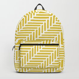 Herringbone 45 Yellow Backpack